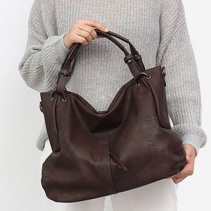CEZIRA Large Vegan Leather Causal Tote & Umhängetasche
