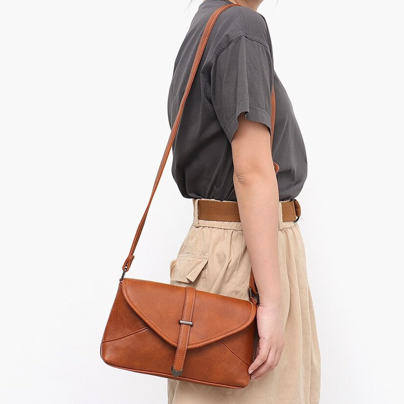 CEZIRA Vegan Leather Crossbody Shoulder Bag