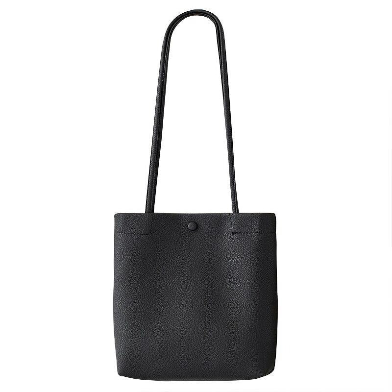 CEZIRA Vegan Leather Casual Bucket Tote Bag
