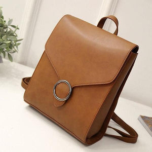 TINKIN Vintage Style Vegan Leather Backpack