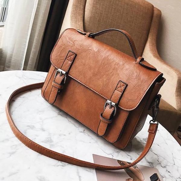 ZMQN Vegan Leather Shoulder Bag