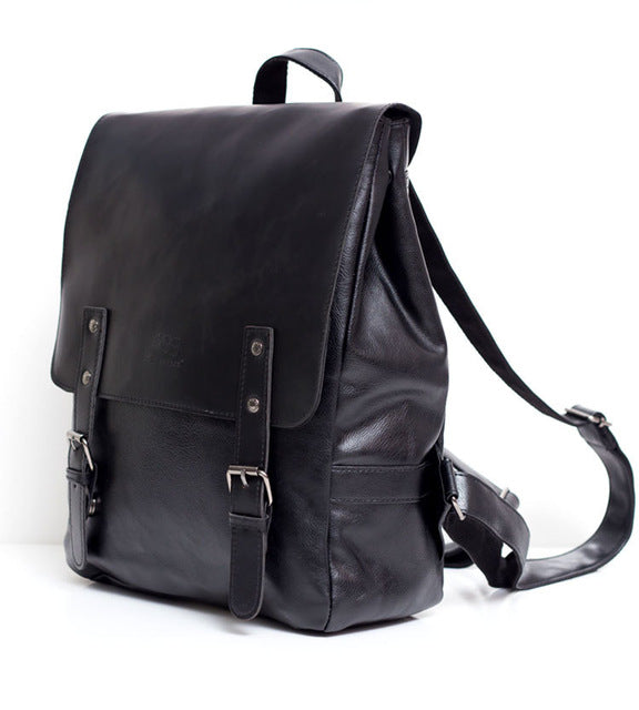NEW! THREE BOX Vegan Leather Dual Strap Backpack