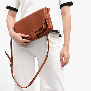 CEZIRA Vintage Style Vegan Leather Crossbody Handbag