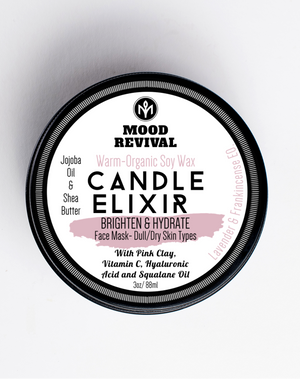 BRIGHTEN & HYDRATE- CANDLE ELIXIR FACE MASK