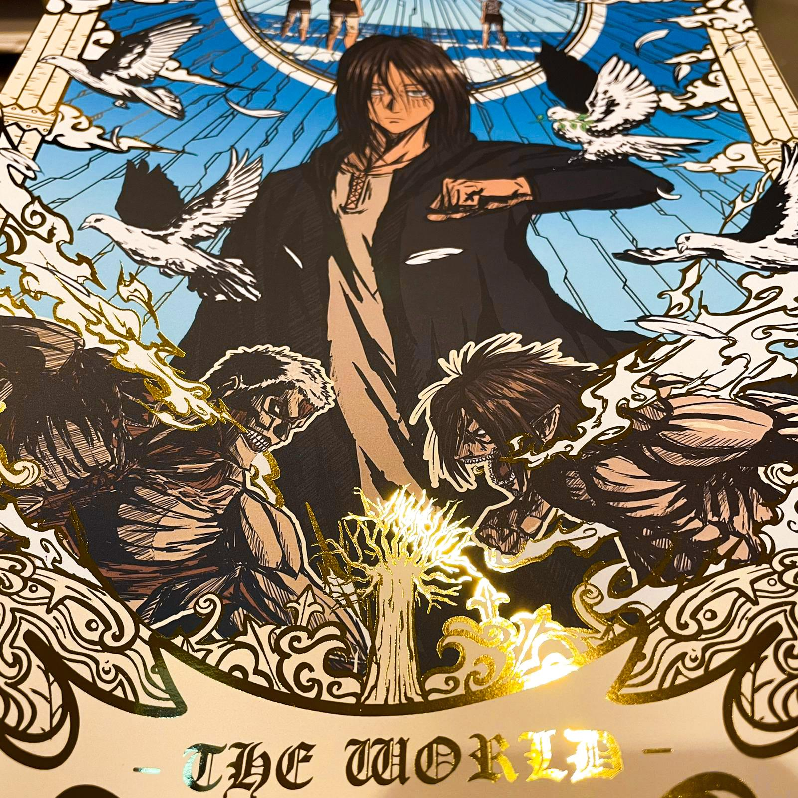 "Poster Gold A3 ""The World"""