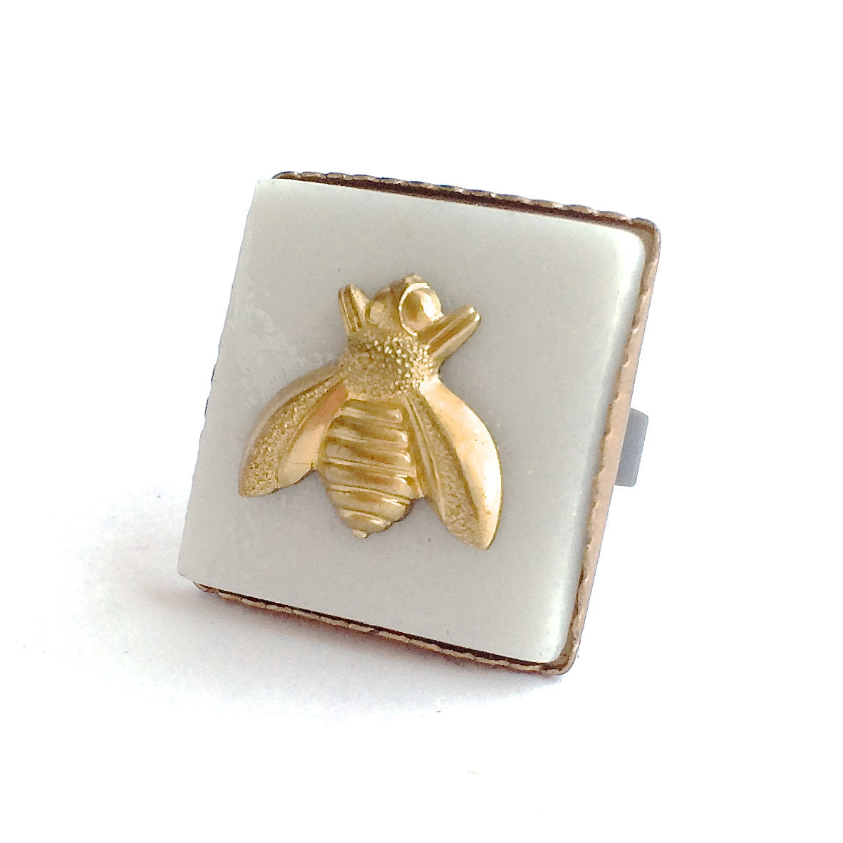 WHITE CERAMIC BEE