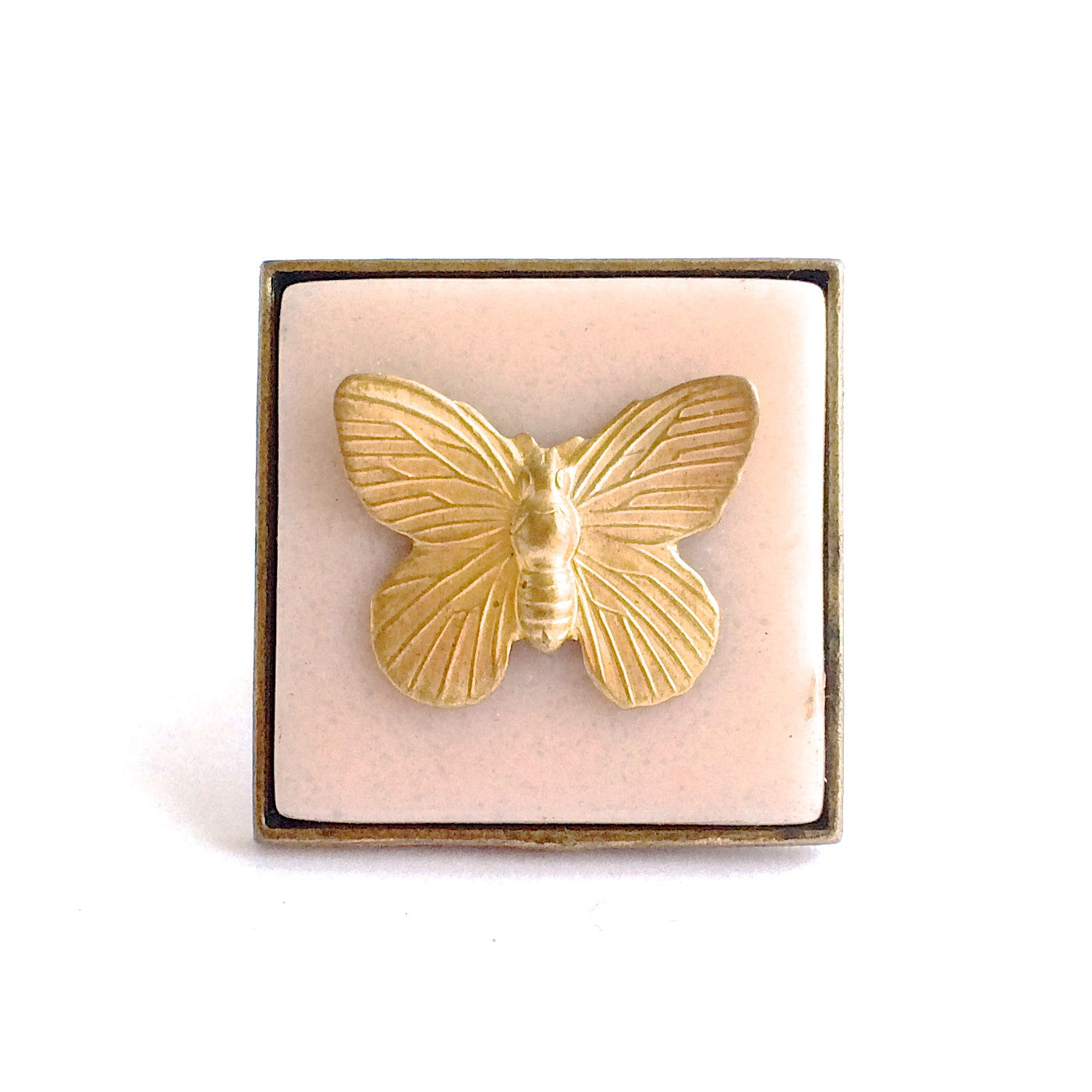 SALMON CERAMIC BUTTERFLY