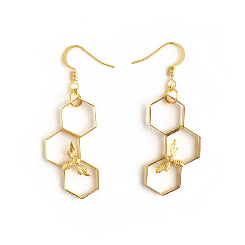 ABEJA EN ORO EARRINGS