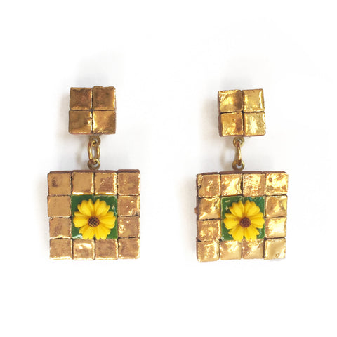EL CAPRICHO MINI TILE EARRINGS