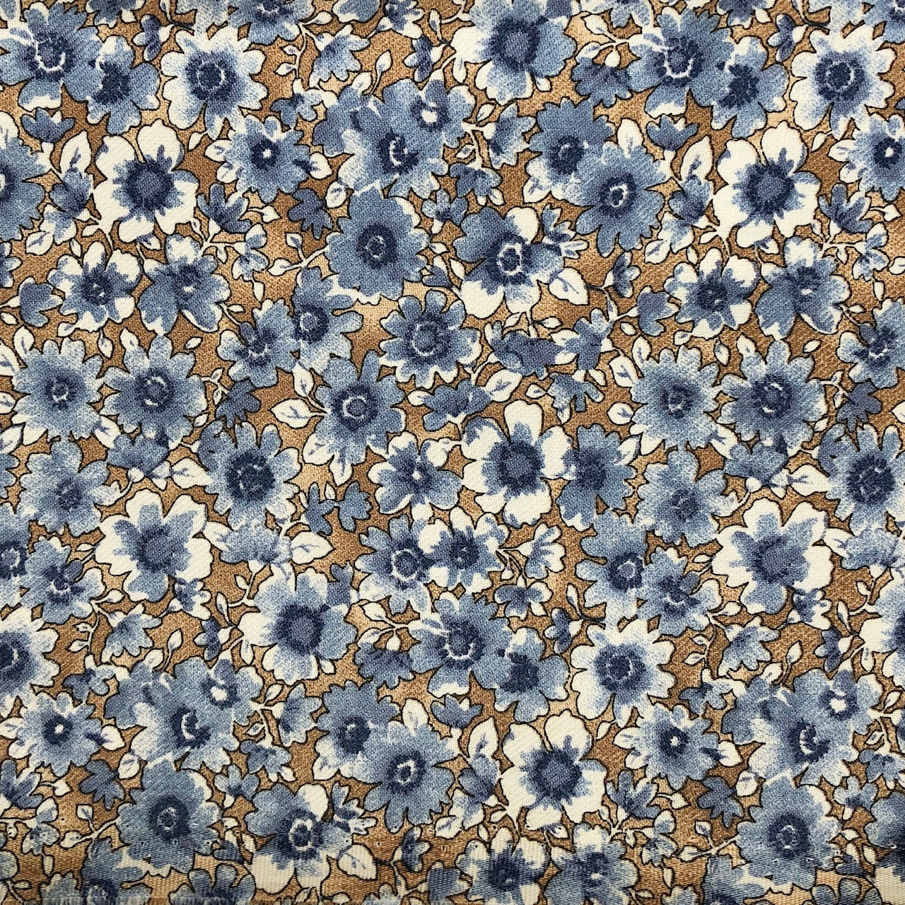 MASCARILLA FLORES DENIM
