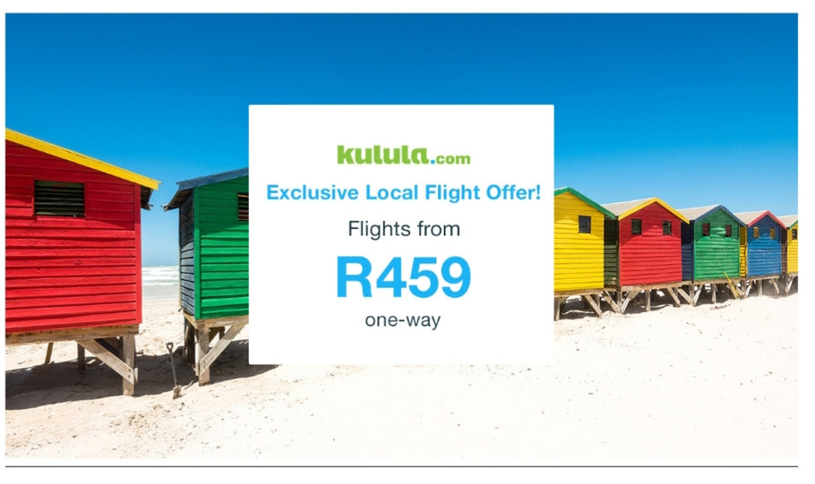 Flash Sale: Domestic flights from R459 with Kulula