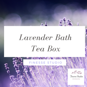 Lavender Flower  Bath tea Box