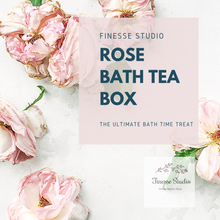 Load image into Gallery viewer, Rose Bath Tea Box