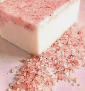 Pink Salt and kaolin clay soap bar