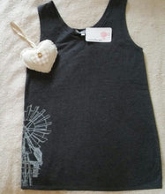 Load image into Gallery viewer, Tank Top grey with Windmill print