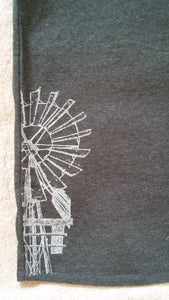 Tank Top grey with Windmill print