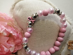 Pink Breast Cancer Awareness Bracelets