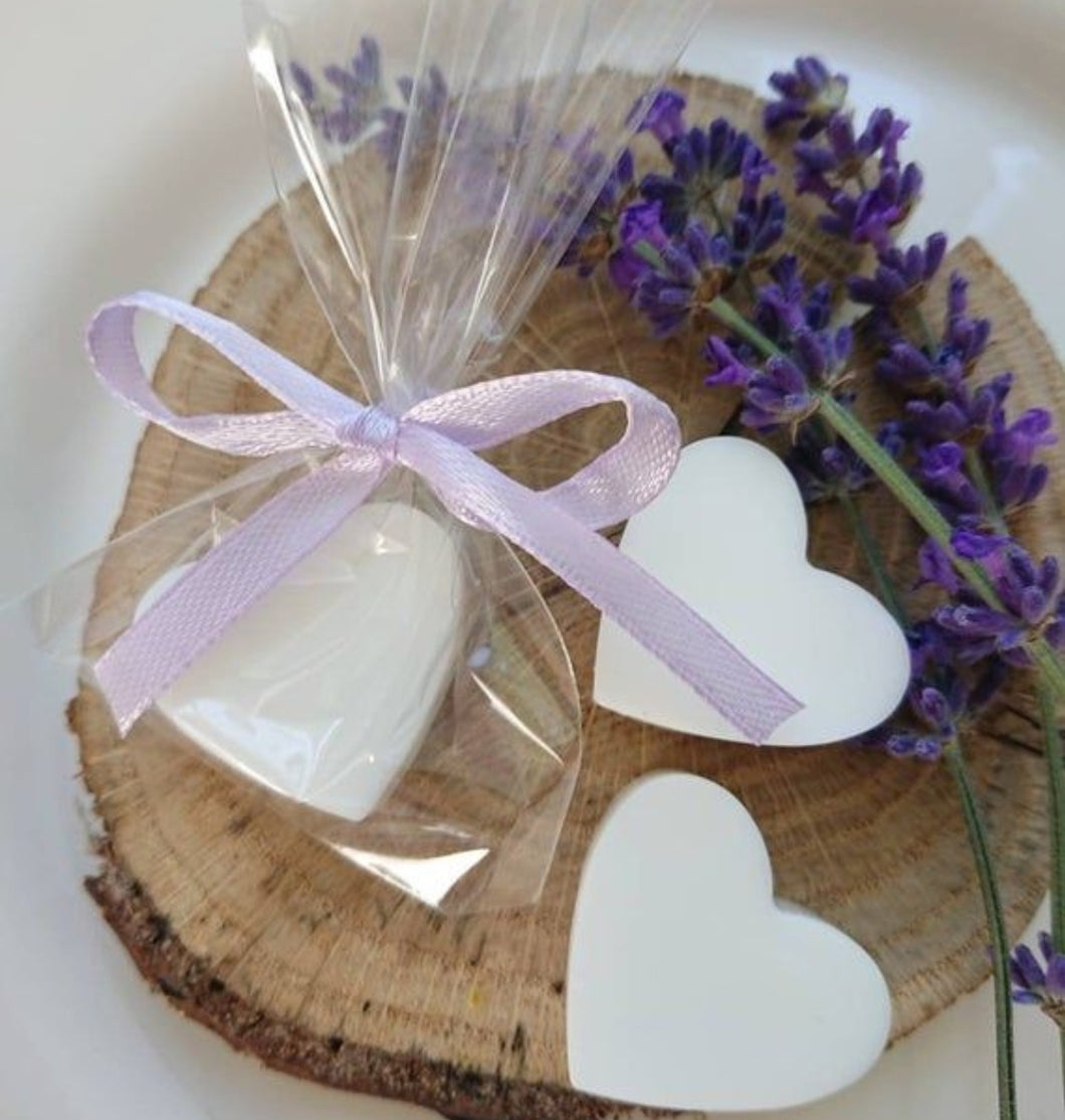 Mini Fragranced Heart shaped soaps  - Wedding , Baby shower gift