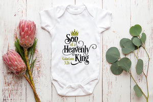 Son of a Heavenly King baby vest