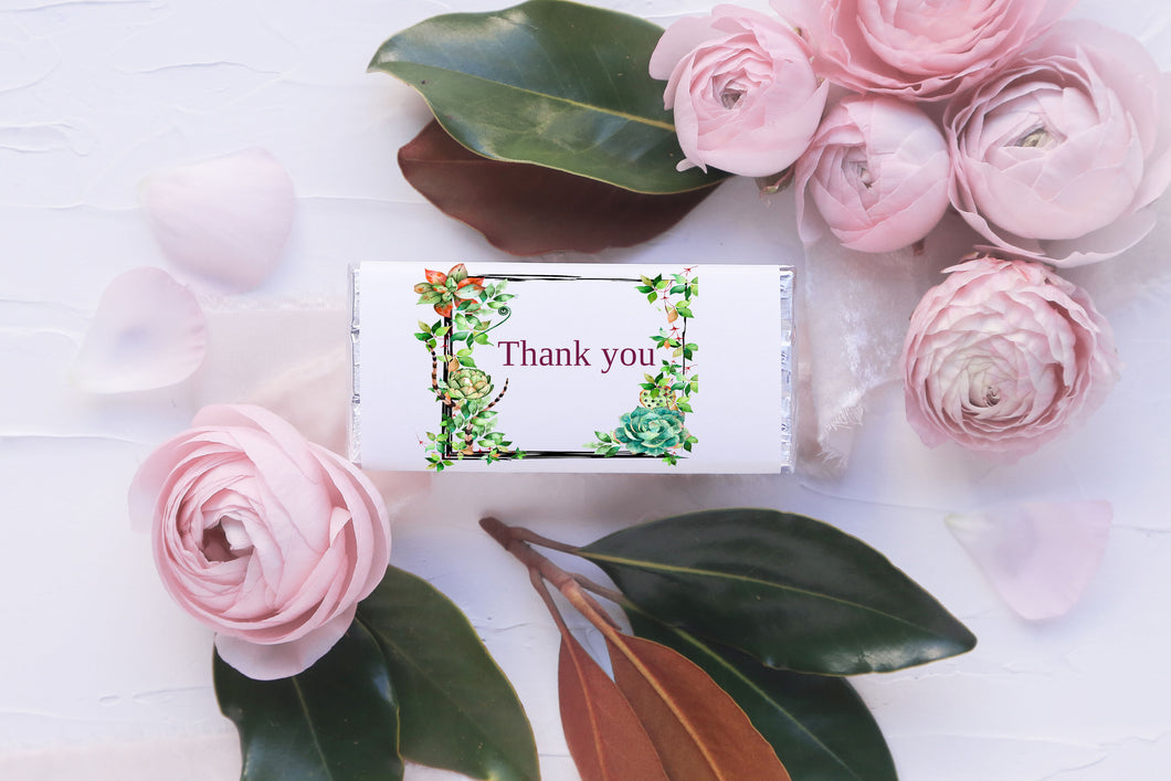 Succulents Chocolate wrapper