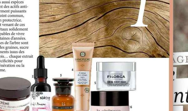 Our Botanical Serum with titrated Pine extract in the anti-aging article of VERSION FEMINA