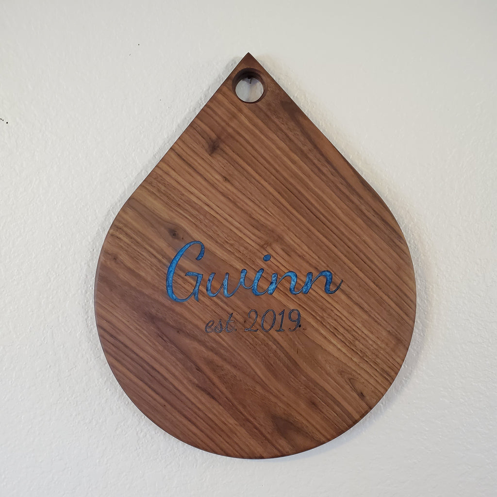 Personalized epoxy tear drops