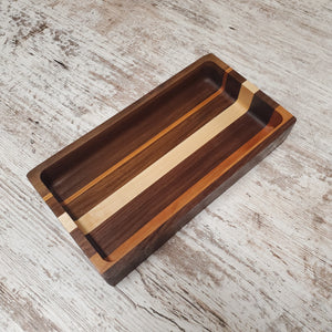 Small multi colored catch all tray
