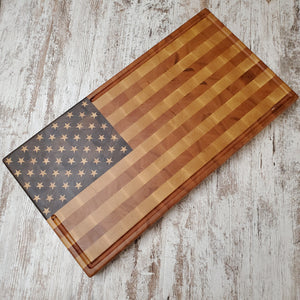 The American Flag chopping block