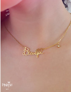 You Are Beautiful Necklace