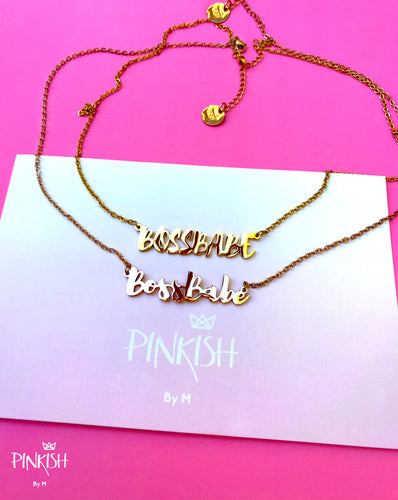Boss Babe Girl Boss Necklace Jewelry Girl Power Stainless Steel Gift Statement