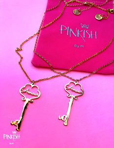 French Love Amour Key Necklace