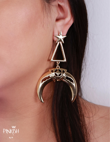 Crescent Star Moon Gold / Silver Pendants Earrings