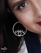 Load image into Gallery viewer, The Shining Eye Hoop Earrings