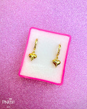 Load image into Gallery viewer, Love Heart Gold Filled Mini Baby Huggie Pendant Earrings Casual Romantic