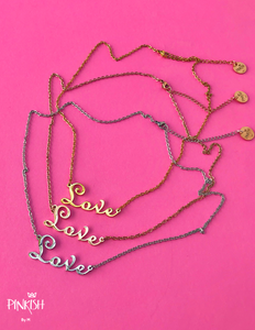 Love Necklace Gold RoseGold Silver