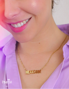 14k Gold Plated Mexicana Pendant Necklace