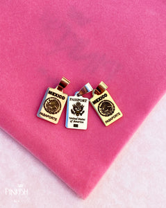 Shiny Passports Pendant Necklaces