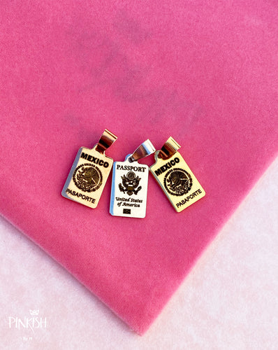 Mexico Passport United States Passport Pendant Travel Jewelry