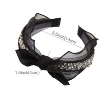 Load image into Gallery viewer, Noir Lace Hair Glam Headbands