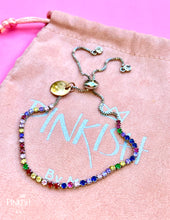 Load image into Gallery viewer, Multicolor Tennis Dainty Bracelet Sparkling Adjustable