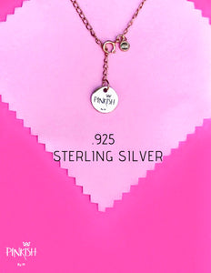 Sterling Silver .925 Jewelry Pinkish by M