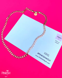 Rose Gold Chunky Link Chain Gold Filled Tarnish Free Water Resistant