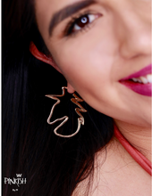 Load image into Gallery viewer, Unicorn Shaped Hoop Earrings Gold