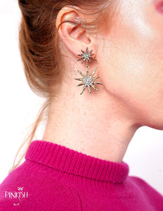 Starlight Burst Drop Pendant Earrings