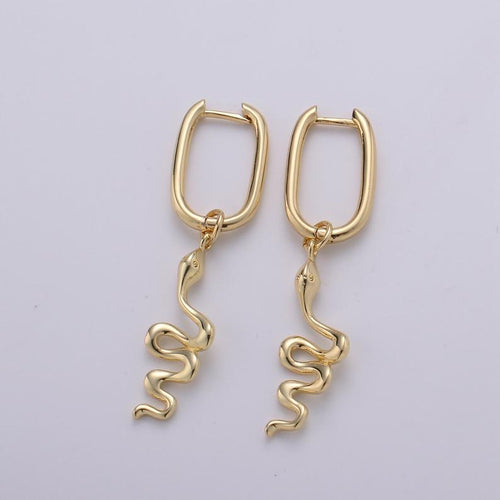 Rebirth Dainty Snakes Hoop Earrings