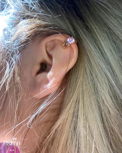 Dainty Rose Gold Ear Cuff Earring