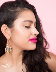Pitaya Cactus Hoop Earrings