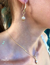Load image into Gallery viewer, Gold Dainty Skull Pendant Earrings