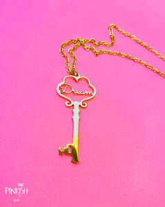 Stainless Steel Gold Rose Dream Key