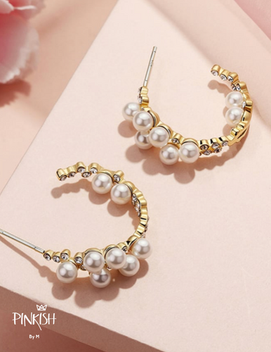 Jacky Pearls & Diamond Earrings
